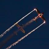Aeronáutica na noite Foto de Stock Royalty Free