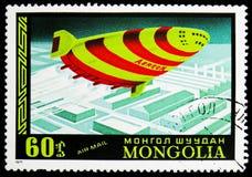 Aeron-340 haber planeado rusa, correo aéreo, historia del serie de los dirigibles, circa 1977 foto de archivo