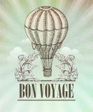 Aeronautic adventure. Vector vintage illustration Royalty Free Stock Image