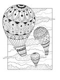 Aeronautic balloon coloring book vector Royalty Free Stock Image