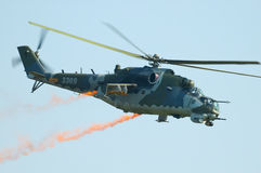 Aeronautica ceca Mi-35 - Radom Airshow - Polonia Fotografia Stock Libera da Diritti
