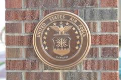 Aeronautica della moneta degli Stati Uniti sul mattone fotografia stock