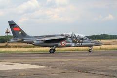 Aeronautica francese Dassault Alpha Jet Immagini Stock Libere da Diritti