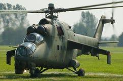 Aeronautica polacca Mi-24 - Radom Airshow - Polonia Immagine Stock