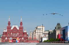 Aeronautica russa Antonov i 124 e un 4xSukhoi Unione Sovietica 27 Immagini Stock