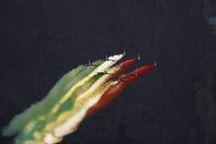 Aeronautica speciale italiana dell'unità - Frecce Tricolori - Fotografia Stock Libera da Diritti