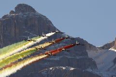 Aeronautica speciale italiana dell'unità - Frecce Tricolori - Immagine Stock Libera da Diritti