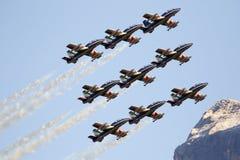 Aeronautica speciale italiana dell'unità - Frecce Tricolori - Fotografia Stock