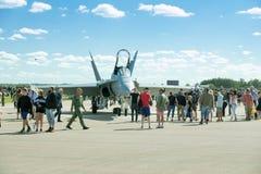 Aeronautica svedese Airshow, Linkoping, Svezia immagine stock libera da diritti