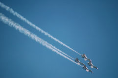 Aeronautica Thunderbirds Fotografie Stock Libere da Diritti