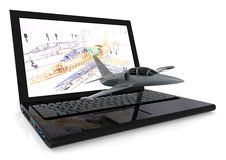 Aeronautical Cad design Royalty Free Stock Images
