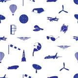 Aeronautical icons pattern eps10. Aeronautical icons blue pattern eps10 Stock Photo