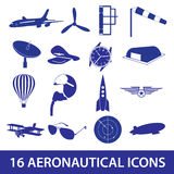 Aeronautical icons set eps10 Royalty Free Stock Image
