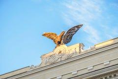 Aeronautics Eagle. The symbol of aeronautics military italian corps in rome royalty free stock photo