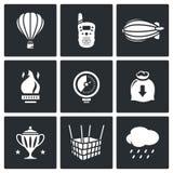 Aeronautics icons set. Vector Illustration. Stock Photo