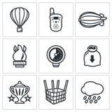 Aeronautics icons set. Vector Illustration. Royalty Free Stock Images