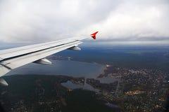Aeronautiskt foto Berlin från flygplanet Arkivbild