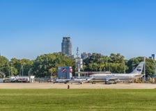 Aeroparque-Flughafen Buenos Aires Argentinien Stockfotos