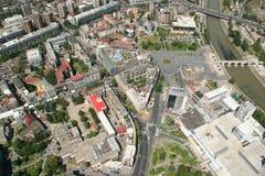 Aerophoto de Skopje Macédoine Image stock