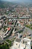 Aerophoto de Skopje Macedónia Imagem de Stock
