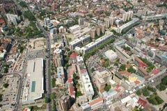 Aerophoto de Skopje Macedónia Foto de Stock Royalty Free