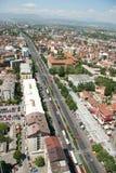 Aerophoto de Skopje Macedónia Imagem de Stock Royalty Free