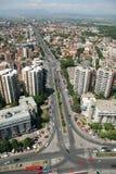 Aerophoto van Skopje Macedonië royalty-vrije stock foto's
