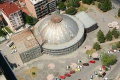 Aerophoto van Skopje Macedonië royalty-vrije stock afbeelding
