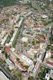 Aerophoto von Skopje Makedonien Lizenzfreies Stockfoto