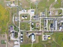 Aerophotographing-Stationstrennung und Dehydrierung des Öls und Stockfotografie