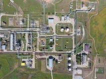Aerophotographing-Stationstrennung und Dehydrierung des Öls und des Gases Stockbilder