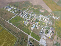 Aerophotographing-Stationstrennung und Dehydrierung des Öls und des Gases Lizenzfreies Stockbild