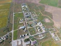 Aerophotographing-Stationstrennung und Dehydrierung des Öls und des Gases Stockbild