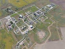 Aerophotographing-Stationstrennung und Dehydrierung des Öls und des Gases Lizenzfreie Stockbilder