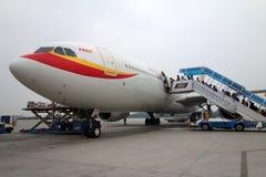 Aeroplae dans l'aéroport international capital de Pékin Photo libre de droits