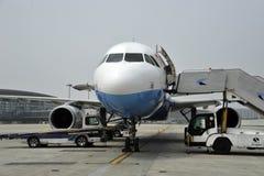 Aeroplae am Flughafen Stockfotografie