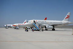 Aeroplae in  Turpan Airport Stock Image