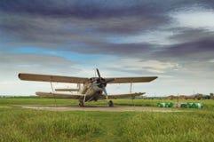 Aeroplan velho imagens de stock royalty free