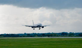 Aeroplane. An Aeroplane coming in to land stock photos