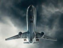 Aeroplane. A CG shot of an aeroplane on take off stock photos