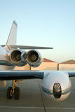Aeroplane. Side view of an aeroplane stock image