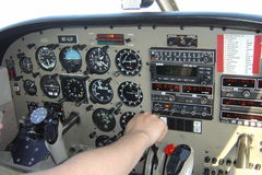 Aeroplane. Control panel of a Piper 28 royalty free stock photography