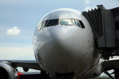 Aeroplane. Ready for air travel stock image