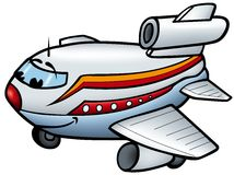 Aeroplane royalty free illustration