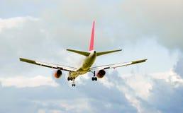 Aeroplane. An Aeroplane in mid flight stock photo
