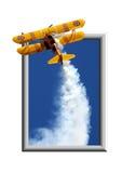 Aeroplane break-out. Composite art work stock photos