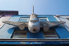 Aeroplane on a building in Camden Town, London Royalty Free Stock Image