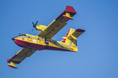 Aeroplane canadair water forest fire Stock Photo