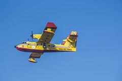 Aeroplane canadair water forest fire Royalty Free Stock Photography