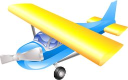 Aeroplane cartoon Royalty Free Stock Images